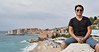 Self-portrait at Dubrovnik's Banje Beach