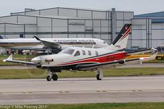 HB-KRJ - 2016 build Socata TBM930, lining up for departure on Runway 23L at Manchester (egcc) Tags: 1129 buzzi dahersocata egcc hbkrj lightroom man manchester n930t ringway socata tbm tbm930