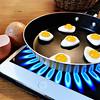 Just an illusion... (NUMERIK33) Tags: oeuf eggs egg oeufs poêle joke jaune yellow numerik33 ipad apple gaz gas cuisson baking