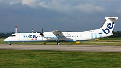 G-JECX (AnDyMHoLdEn) Tags: flybe dash8 bombardier egcc airport manchester manchesterairport 23l