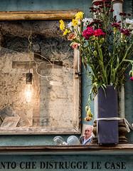 20171028-082 (sulamith.sallmann) Tags: pflanzen religion zeichen altar altstadt blume blumen blumenstraus botanik flower flowers glühbirne italia italien italy jesus kreuz laloggia licht light palermo pflanze plants signs sizilien symbol trash typo sulamithsallmann