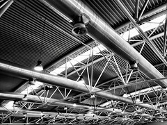Tubular structure. (Massimo Virgilio - Metapolitica) Tags: tubular structure monochrome blackandwhite urban city iron industrial architecture