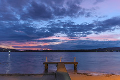 Overcast Dawn Waterscape (Merrillie) Tags: daybreak woywoy color overcasst cloudy water coast dawn beauty landscape weather newsouthwales clouds bay nsw brisbanewater light scenery beautiful scene nature scenic coastal sky waterscape view centralcoast sunrise australia mountain
