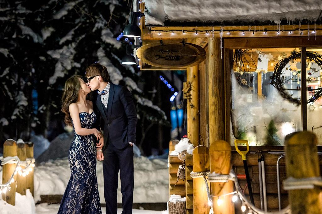 (北海道雪地婚紗 森之時計雪地婚紗拍攝 禮服: Toris Wedding )