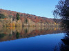 A calm autumn morning on the Seine i (DeniseJC) Tags: river seine riverseine autumn trees reflection water calm bluesky
