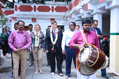 Karen Bradley in Bengaluru, 8 November 2017 (UK in India) Tags: uk digital culture media sport karenbradley britishdeputyhighcommissionerbengaluru dominicmcallister srikadumalleshwaratemple bengaluru wednesday 8november2017