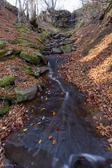 Toboggan de la Barthe (Ben Mouleyre Photographie) Tags: auvergne puydedôme massifdusancy massifcentral cascade ruisseau automne toboggan feuillesmortes eau poselongue forêt