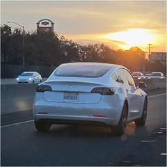 a still-rare model (Riex) Tags: tesla model3 sedan electric électrique car voiture automobile auto highway hwy101 autoroute trafic traffic circulation commute sfba california californie s95 canonpowershots95