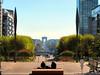 Arc de Triomphe, from La Defense (duaneschermerhorn) Tags: men man arcdetriomphe paris france plaza statue installation view urbanvista city urban