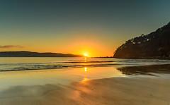 Sunrise Seascape (Merrillie) Tags: daybreak uminabeach landscape nature australia mountains nswcentralcoast newsouthwales clouds nsw uminapoint beach scenery centralcoastnsw coastal waterscape centralcoast seascape sunrise coast water sea