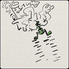 """Hieroglyphics Dude"" (donnacoburn1) Tags: squiggle applepencil pen draw comical safe public donnacoburn apple apps drawing creative digitalart mobileart artrage mobile doodle"