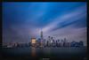 Manhattan Skyline (Ilan Shacham) Tags: landscape cityscape skyline manhattan nyc newyork dawn reflection water ny us usa sky streaks fineart fineartphotography blue