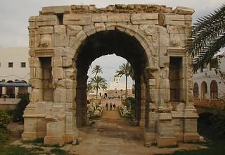 BEFORE -The Arch of Marcus Aurelius - Tripoli, Libya
