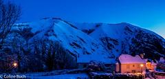 Heure bleue Panorama (Coline Buch - http://coline-buch.fr/) Tags: 2017 64 aquitaine aquitainelimousinpoitoucharentes colinebuch france lasoule larrau midipyrénées paysbasque pyrénéesatlantiques campagne extèrieur heurebleue montagne nature sudouest village