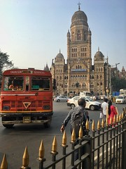 Colonial Bombay (Roy Cheung Photography) Tags: bombay building architecture bus india mumbai colonial terminal central