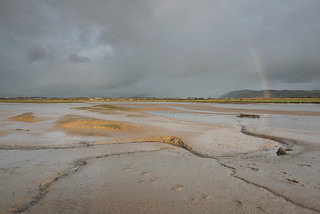 River Irt Estuary with Rainbow