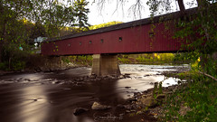 West Cornwall Covered Bridge (Simmie | Reagor - Simmulated.com) Tags: 2017 autumn connecticut connecticutphotographer fall fallcolor landscape landscapephotography nature naturephotography newengland october outdoors unitedstates woods ctvisit digital bridge coveredbridge cornwall landmark historic housatonic river red