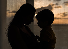 Mother's love by his son (vitorgarbim) Tags: portrait mommy mommyandson motherandson truelove love motherlove mother son sweetboy smile hug sunset huggies silhouette natural spontaneous
