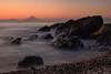 城ヶ島と富士山 (Mori.Kei) Tags: 富士山 fujisan 城ヶ島 三浦半島 orange japan 日本 japon 海 sea ocean blue sunset 夕方 夕景 シルエット silhouette