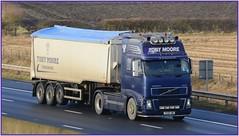 YX58 JWC (panmanstan) Tags: volvo fh16 wagon truck lorry commercial bulk freight transport haulage vehicle m62 motorway sandholme yorkshire