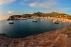 Bay view..... (Dafydd Penguin) Tags: shift tilt minature effect harbour harbor port dock water waterside harbourside sea seaside town coast coastal boats yachts sailboat mooring anchorage soller mallorca spain nikon df nikkor 16mm af f28d fisheye fanatics