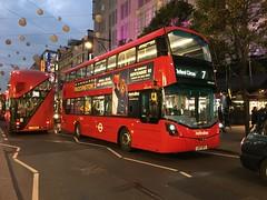 Metroline's LK17 DFV nearing Oxford Circus on the 7 (West Scotland Transport) Tags: b5lh oxfordcircus 7 vwh2298 dfv lk17 lk17dfv bus decker double transportforlondon tfl volvobus volvo wrighthybrid hybridbus hybrid gemini wrightgemini wrightbus wright londonbus londonbuses metrolinelondon metrolinebuses metroline