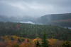 Caught in Between (Aymeric Gouin) Tags: canada québec mauricie park parc landscape paysage landschaft paisaje tree arbre foliage leaves leaf autumn fall automne nature mist brume fog mood lake lac travel voyage fujifilm xt2 aymgo aymericgouin