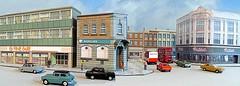 Town scene (kingsway john) Tags: kingsway models oo gauge 176 model bank woolworrths supermarket lbw ssm wwmd