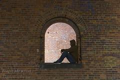 Human Contrast (Brian Knott Photography) Tags: city urban eastcoast person man homeless drugs cityscape bricks building wall brickwall abandoned silhouette streetphotography selfie selfportrait newyork newyorkcity nyc ny brooklyn slums queens harlem bronx manhatten manhattan