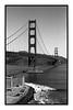 Golden Gate Bridge / (c) abottleinthesea (a_bottleinthesea) Tags: eau sanfrancisco goldengatebridge blackandwhite noiretblanc analogphotography argentique homeprocessing nikon nikonpassion f100 nikkor50mmf14d believeinfilm filmisnotdead roadtrip californie california kodak trix 400 400tx ilfosol3