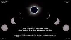 HappyHolidaysFromTheHomCavObservatory2017 (homcavobservatory) Tags: homcav observatory happy holidays total solar eclipse snake river plain idaho orion ed80t apochromatic refractor star adventurer mount canon 700d dslr orchestrator astronomy astrophotography corona partial phases