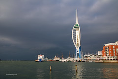 Spinnaker Tower (Rob_Pennycook) Tags: spinnakertower oldportsmouth autumn autumnlight portsmouthharbour ships desktop gunwharf hmswarrior harbour darkskies seascape ferries