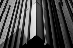 The Tower (Leanne Boulton) Tags: lines geometric architecture urban street abstract landscape urbanlandscape closeup shape form geometry building tower streetphotography tone texture detail depth naturallight outdoor sunlight light shade shadow city scene scenic canon canon5d 5dmkiii 70mm ef2470mmf28liiusm composition black white blackwhite bw mono blackandwhite monochrome glasgow scotland uk