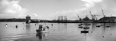 Falmouth harbour. (martin.bruntnell) Tags: falmouth harbour bw