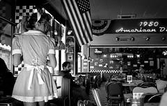 Back to '50 (robertomandara) Tags: vintage analogica analogue leica r4 ilford ilfordhp5 summicron america americandiner darkroom cameraoscura
