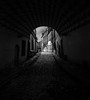 Bohemia b&w (david schweitzer) Tags: tábor oldtown bohemia czechrepublic medieval streets gothic renaissance baroque heritage houses cobblestone passage ancient urban labyrinth tunnel bohême alley sky wall architecture road bw