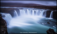 Godafoss (ttrendell) Tags: godafoss waterfall iceland lee filter big stopper canon 5dmk2 1635mm neutral density long exposure landcape europe blue green clouds gods rocks cascade colour