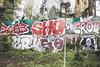 Sho (lanciendugaz) Tags: graffiti graff paris spray spraycan autoroute a4 vandalisme vandal chrome couleur lettrage roulo hauteur block crew tags tag taggeurs graffeurs negatif spot