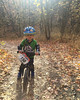1097 (StriderBikes) Tags: 12 150 2017 black boy elbow helmet jeans jersey knee numberplate october pads path photocontestentry sport trail trees leaves