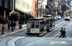 Powell-Hyde Cable Cars 14 & 27 101978 (Rossendalian2013) Tags: sanfrancisco sanfranciscomunicipalrailway muni cablecar tram powellhyde mahoneybrossanfrancisco usa california