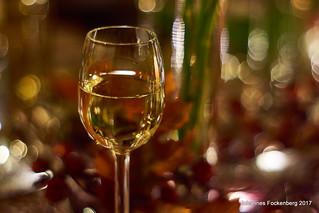 Weisswein mit Bokeh