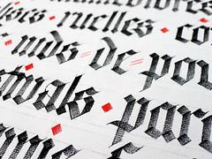 Textures de Montréal (détail). (Syntax One) Tags: calligraphy blackletter textura flatbrush acrylic canvas