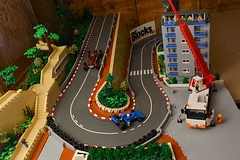 Monaco Hairpin (brick.spartan) Tags: monaco hairpin alpha romero tyrell f1 car race track lego road street moc blocks magazine