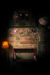 Szimpla Kert (TomStoff) Tags: pub budapest hungary dark light flash nikon tokina graffiti sign