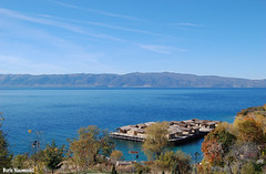 Museum on water (borisnaumoski) Tags: ohrid macedonia nature tourism gradiste lake water autumn fall