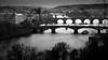 Vltava River (ZDENDA_KARMA) Tags: prague vltava city black white bridge nikkor 50mm