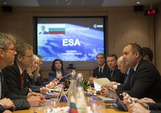 Visit of President of Republic of Bulgaria at ESA HQ