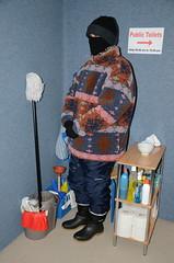 Toilet Service Girl (Warm Clothes Fetish) Tags: slave warm torture girl sweat fleece coat boots anorak hot winter niqab hijab burka chador maid fur hat