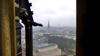 Aussicht über Hamburg vom St. Nikolai