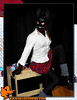 Joy of Sunfire - Set 15 - Trick or Treat 1110233 (joyofsunfire) Tags: ponyplay petplay ponygirl petgirl humanpony mare joy halloween uniform latex costume cosplay fetish fetishmodel latexmodel ponyboots leather lycra spandex skintight catsuit latexhooves hoofboots set15 trickortreat